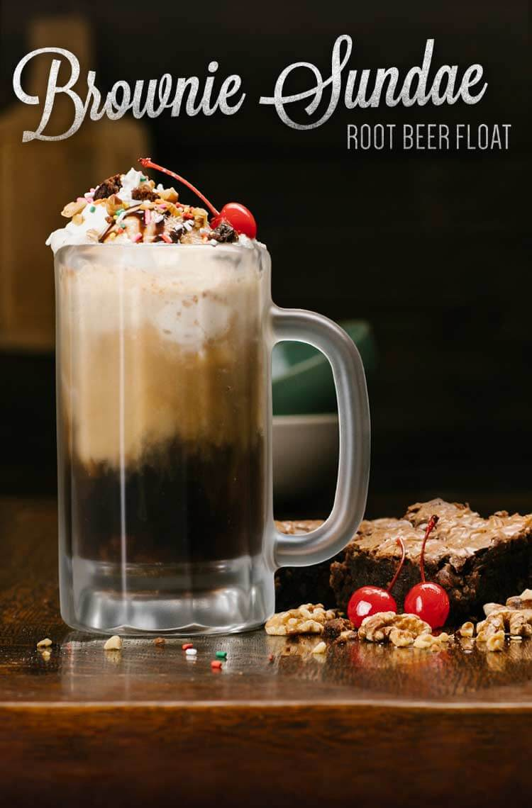 Brownie Sundae Root Beer Float Recipe